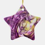 Extracto violeta del verano adorno de cerámica en forma de estrella