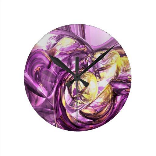 Extracto violeta del verano reloj redondo mediano
