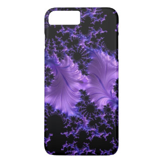 Extracto violeta púrpura 3D del negro azul del Funda iPhone 7 Plus