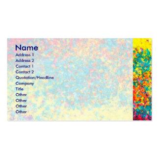 Extracto vivo de los colores tarjetas de visita