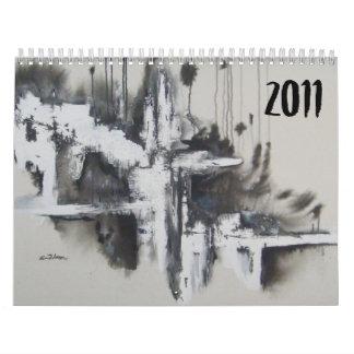Extractos en negro y el blanco - 2011 calendario