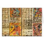 Extractos mayas del códice de Dresden Tarjeton