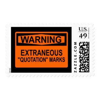 """Extraneous """"Quotation"""" Marks Postage Stamp"""