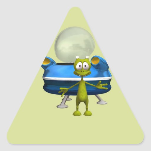 Extranjero amistoso pegatina triangular