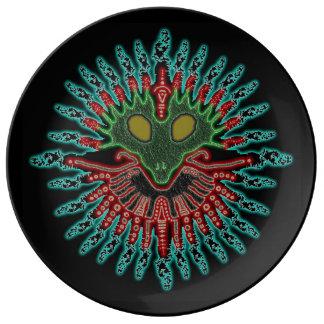 Extranjero antiguo plato de cerámica