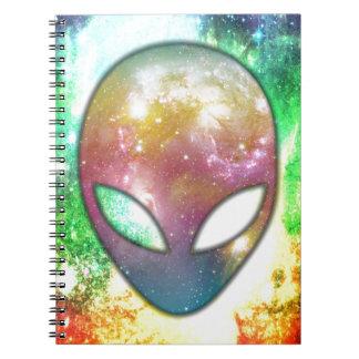 Extranjero colorido cuaderno