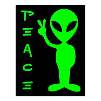 Extranjero de la paz postales