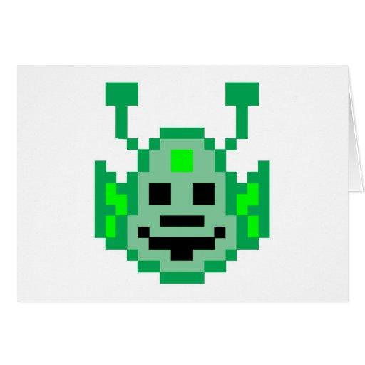 Extranjero de Martian del pixel Tarjeton