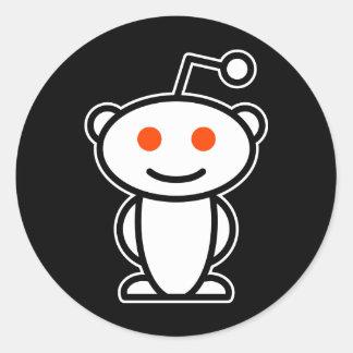 Extranjero de Reddit Pegatina Redonda
