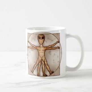 Extranjero de Vitruvian Taza De Café