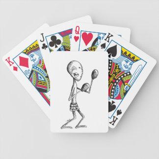 Extranjero del boxeo baraja cartas de poker