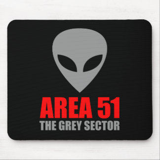 Extranjero del gris del ÁREA 51 Alfombrillas De Ratón