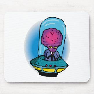 Extranjero del padre en vehículo espacial alfombrilla de raton