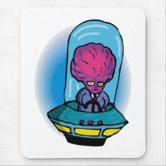 Extranjero del padre en vehículo espacial alfombrillas de ratones