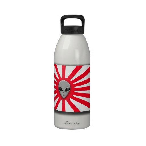 Extranjero del sol naciente botella de agua reutilizable