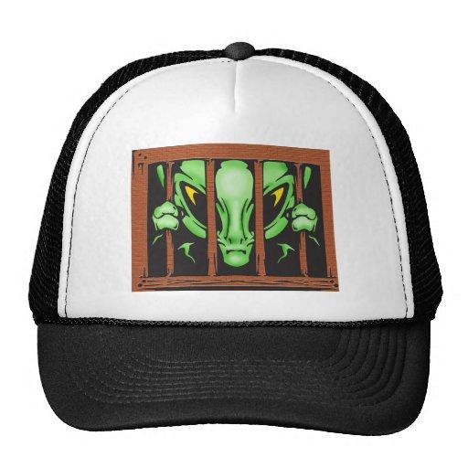 Extranjero detrás de barras gorras