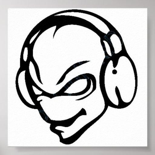 extranjero DJ Póster