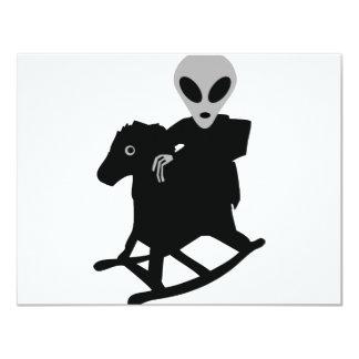 extranjero en icono del caballo mecedora invitacion personalizada
