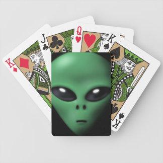 Extranjero espeluznante cartas de juego