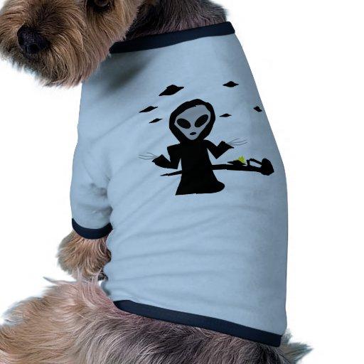 extranjero inocent del desplome camiseta con mangas para perro