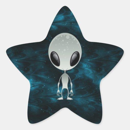 Extranjero lindo pegatina forma de estrella