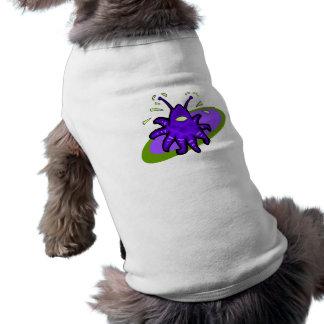 Extranjero púrpura del tentáculo camisetas mascota