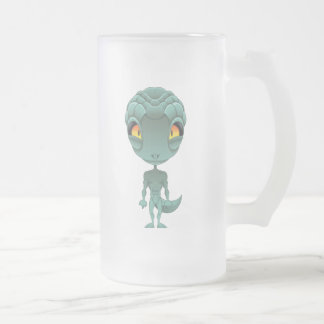 Extranjero reptil lindo taza cristal mate
