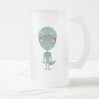 Extranjero reptil lindo taza de cristal