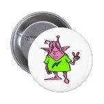 Extranjero rosado gordo del Hippie Pins