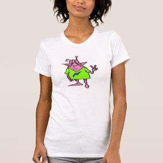 Extranjero rosado gordo del Hippie Camiseta