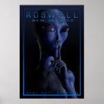 Extranjero, siendo, UFO, Roswell, misterio, encuen Poster