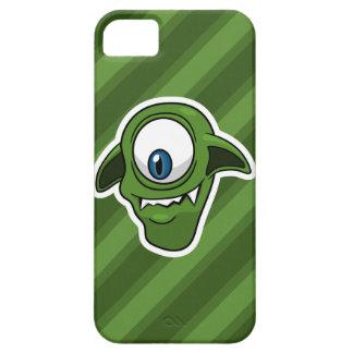 Extranjero sonriente verde iPhone 5 carcasas