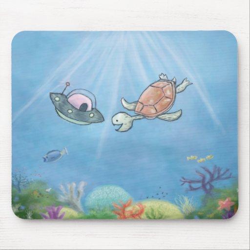 Extranjero subacuático tapete de ratones