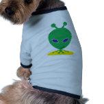 Extranjero verde camisa de mascota