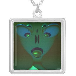 Extranjero verde de la reina, arte abstracto colgante cuadrado