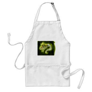 extranjero verde delantal