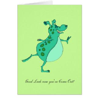 ¡Extranjero verde que salta - suerte ahora usted h Tarjeta