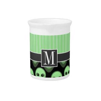 Extranjero verde y negro jarrón