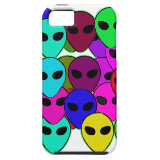 Extranjeros coloridos iPhone 5 carcasas