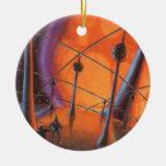 Extranjeros de la ciencia ficción del vintage con  ornamento para arbol de navidad