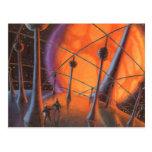 Extranjeros de la ciencia ficción del vintage con  tarjetas postales