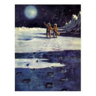 Extranjeros de la ciencia ficción del vintage en l postales