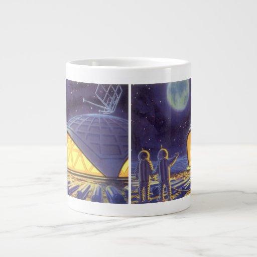 Extranjeros de la ciencia ficción del vintage en taza grande