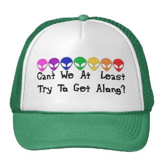 Extranjeros del arco iris gorros