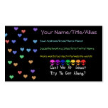 Extranjeros del arco iris tarjetas de visita