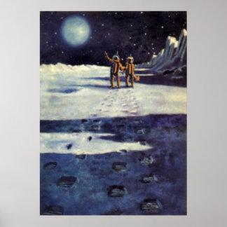 Extranjeros del astronauta de la ciencia ficción póster