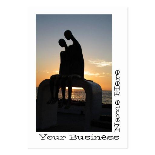 Extranjeros en la puesta del sol tarjetas de visita grandes