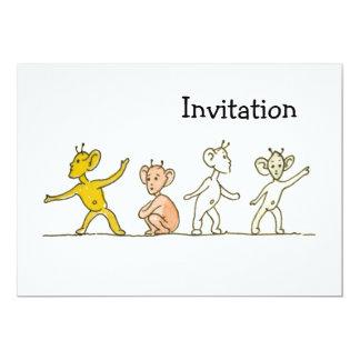 """Extranjeros Invitación 5"""" X 7"""""""