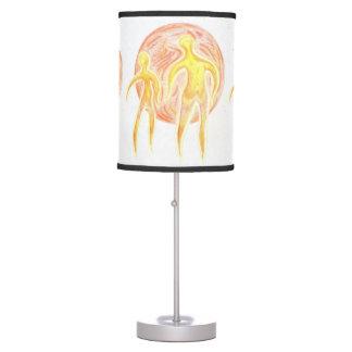 Extranjeros/lámpara de mesa fundida del planeta lámpara de mesa