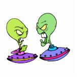Extranjeros que luchan en UFOs Esculturas Fotográficas